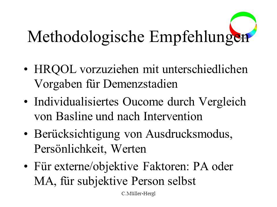 Methodologische Empfehlungen