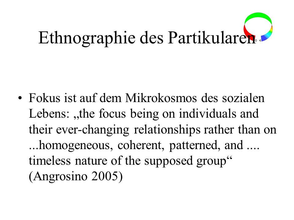 Ethnographie des Partikularen