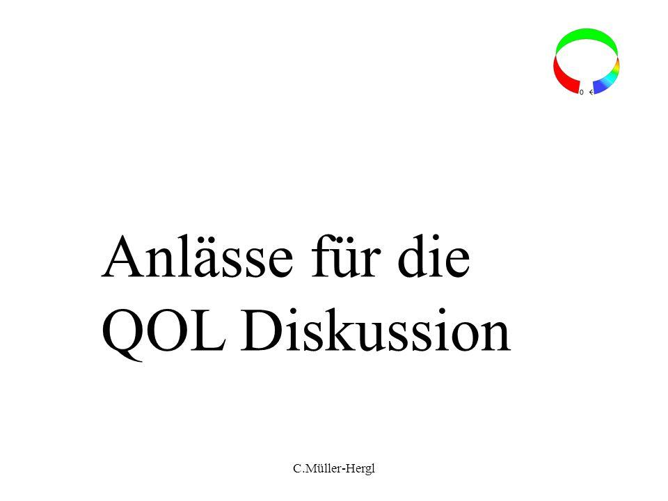 Anlässe für die QOL Diskussion C.Müller-Hergl