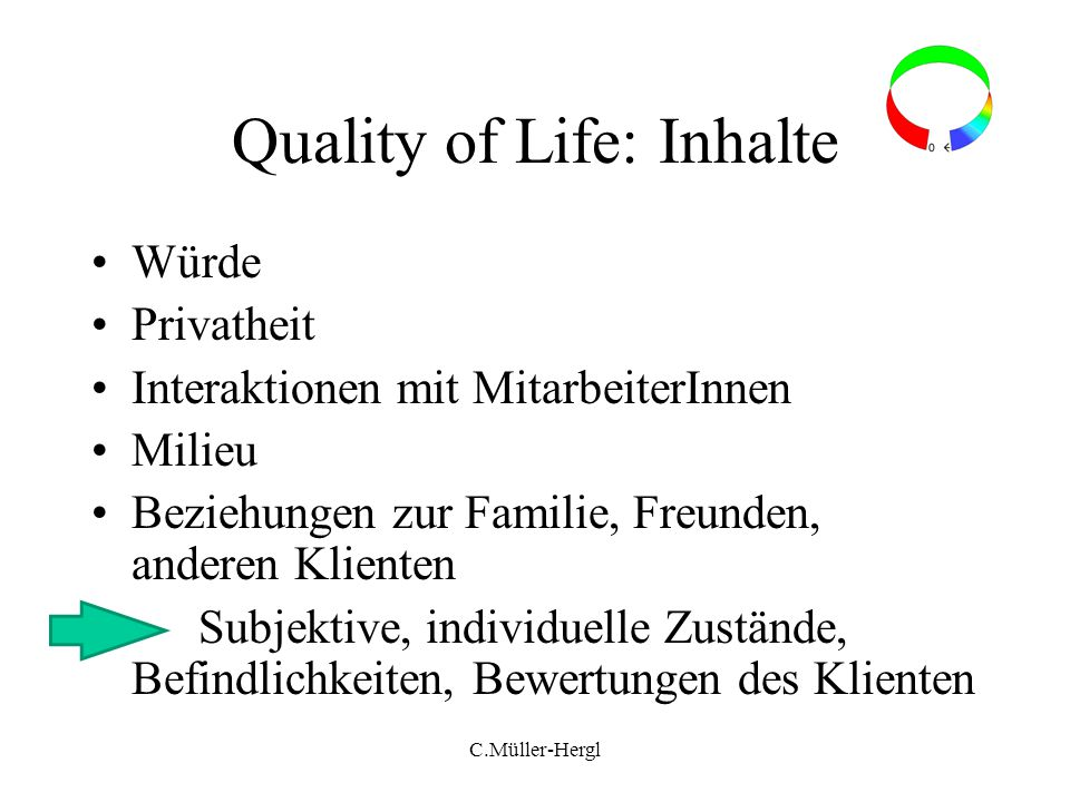 Quality of Life: Inhalte