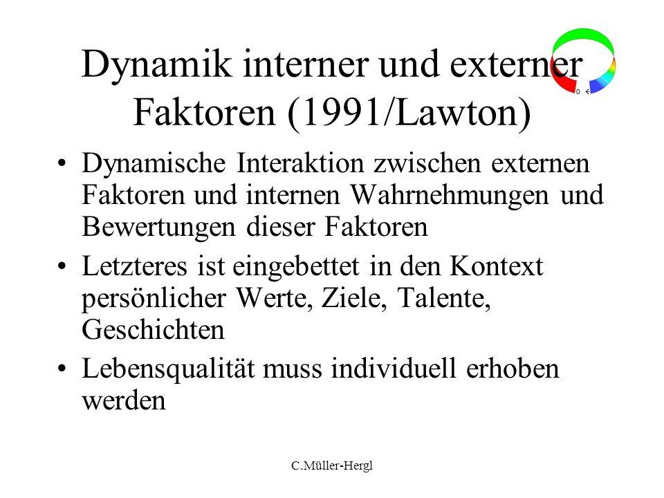 Dynamik interner und externer Faktoren (1991/Lawton)