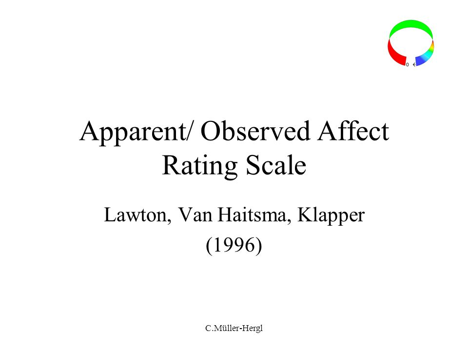 Apparent/ Observed Affect Rating Scale