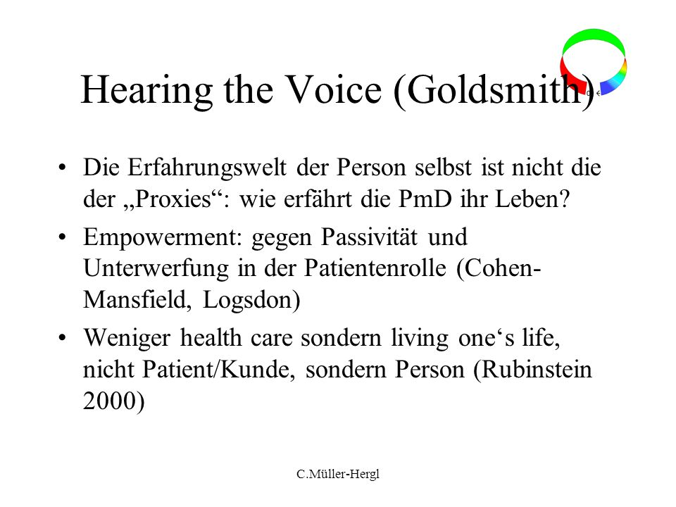 Hearing the Voice (Goldsmith)