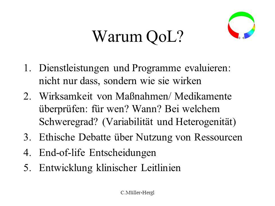 Warum QoL Dienstleistungen und Programme evaluieren: nicht nur dass, sondern wie sie wirken.