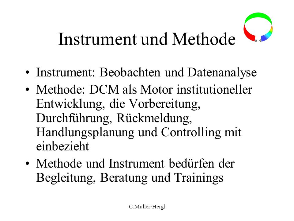 Instrument und Methode