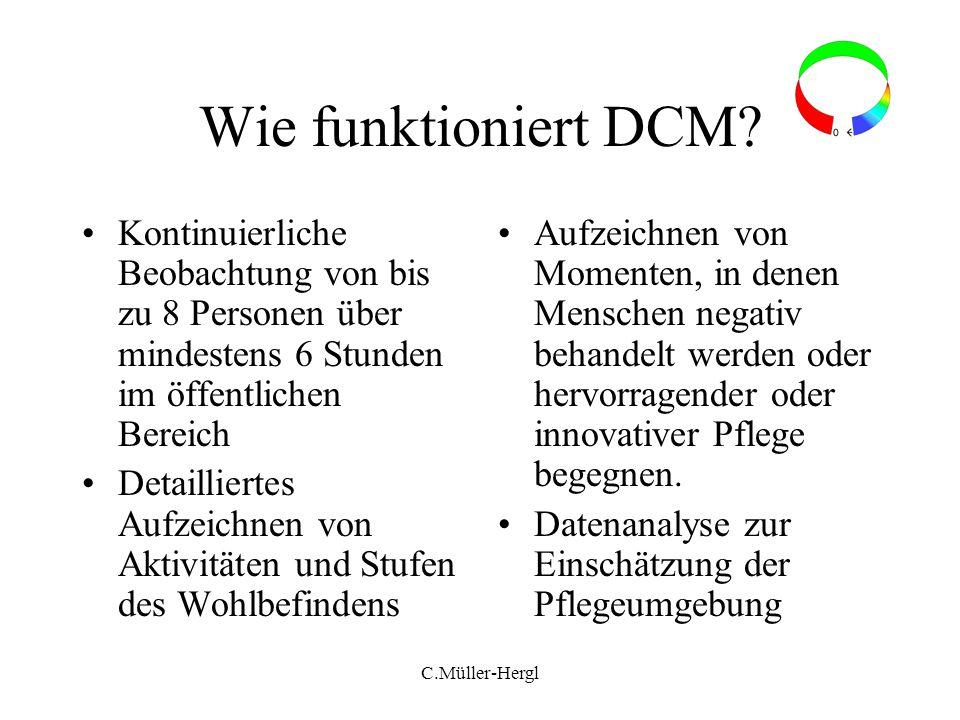 Wie funktioniert DCM Kontinuierliche Beobachtung von bis zu 8 Personen über mindestens 6 Stunden im öffentlichen Bereich.
