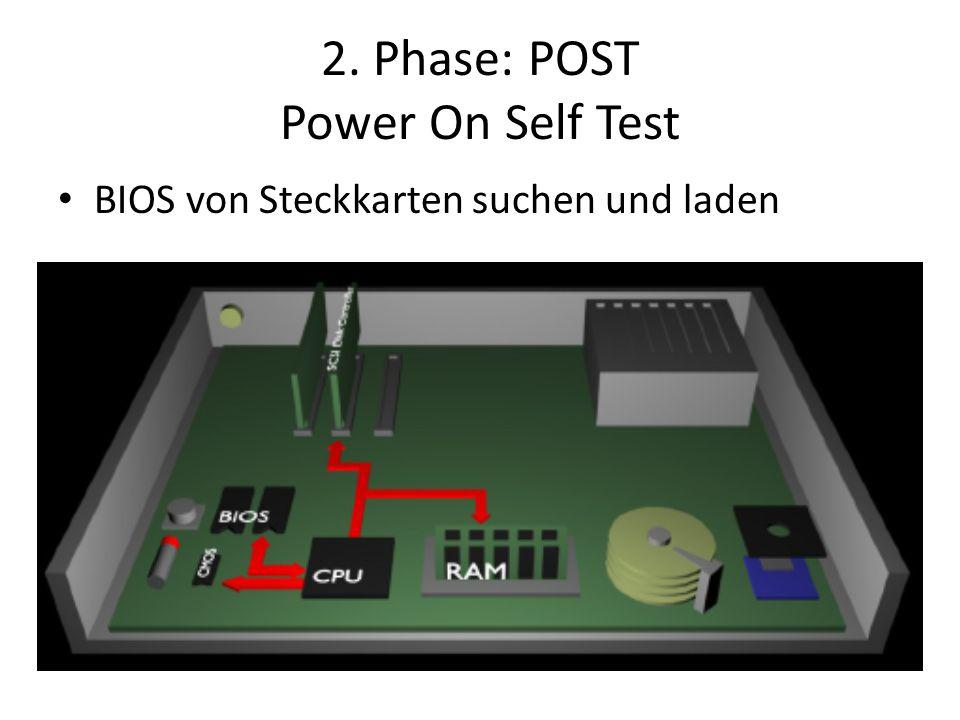 2. Phase: POST Power On Self Test
