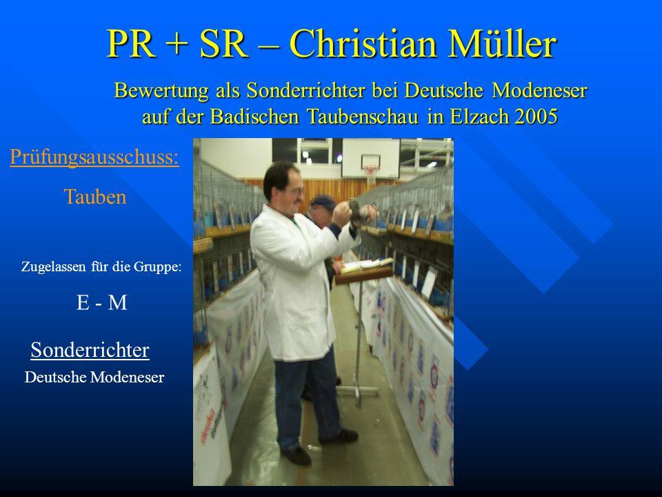 PR + SR – Christian Müller
