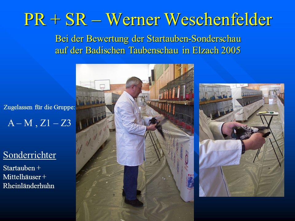 PR + SR – Werner Weschenfelder