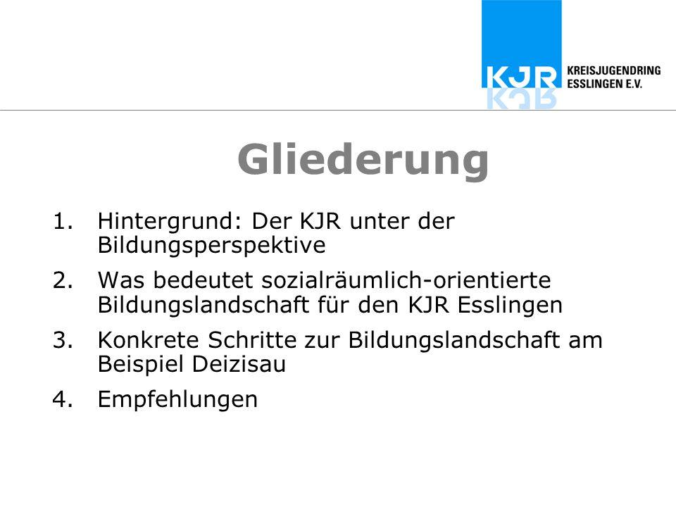 Gliederung Hintergrund: Der KJR unter der Bildungsperspektive