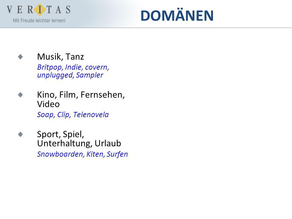 DOMÄNEN Musik, Tanz Kino, Film, Fernsehen, Video