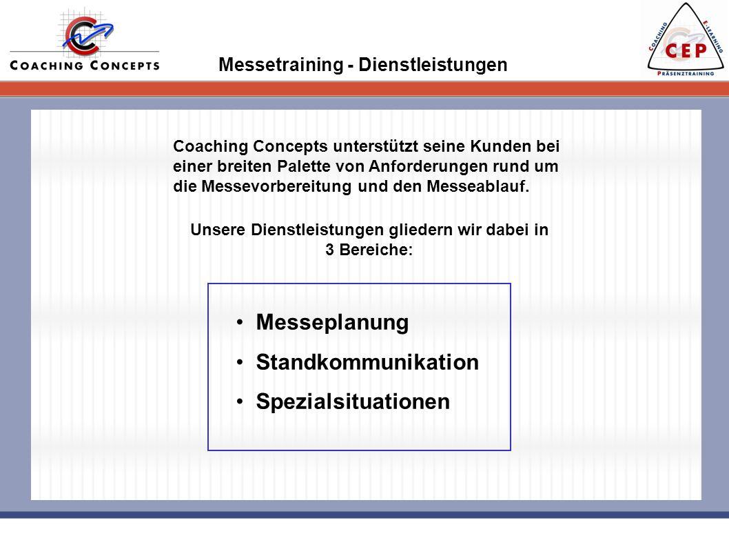 Messetraining - Dienstleistungen