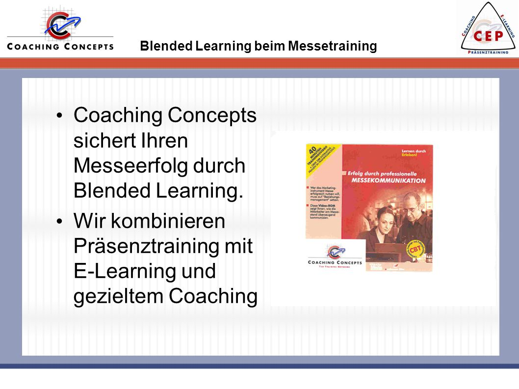 Blended Learning beim Messetraining