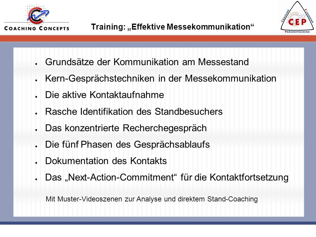 "Training: ""Effektive Messekommunikation"