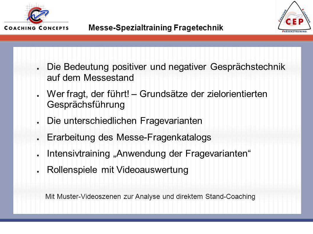 Messe-Spezialtraining Fragetechnik