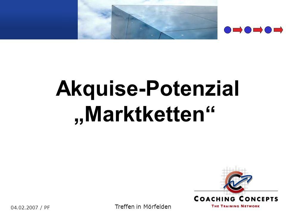"Akquise-Potenzial ""Marktketten"