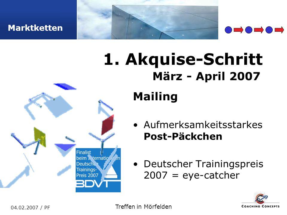 1. Akquise-Schritt März - April 2007 Mailing
