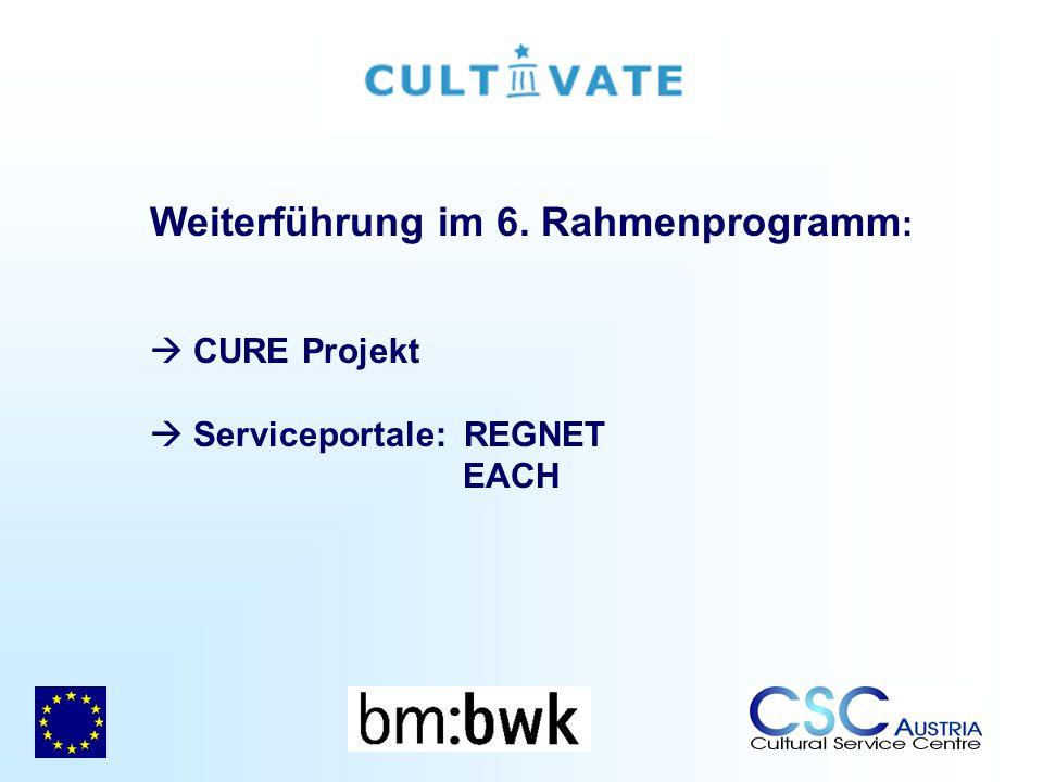 Weiterführung im 6. Rahmenprogramm: