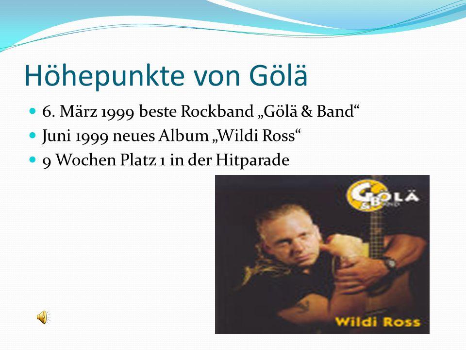 """Höhepunkte von Gölä 6. März 1999 beste Rockband """"Gölä & Band"""