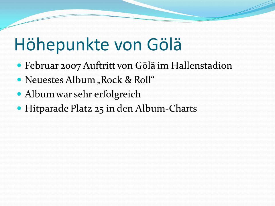 Höhepunkte von Gölä Februar 2007 Auftritt von Gölä im Hallenstadion