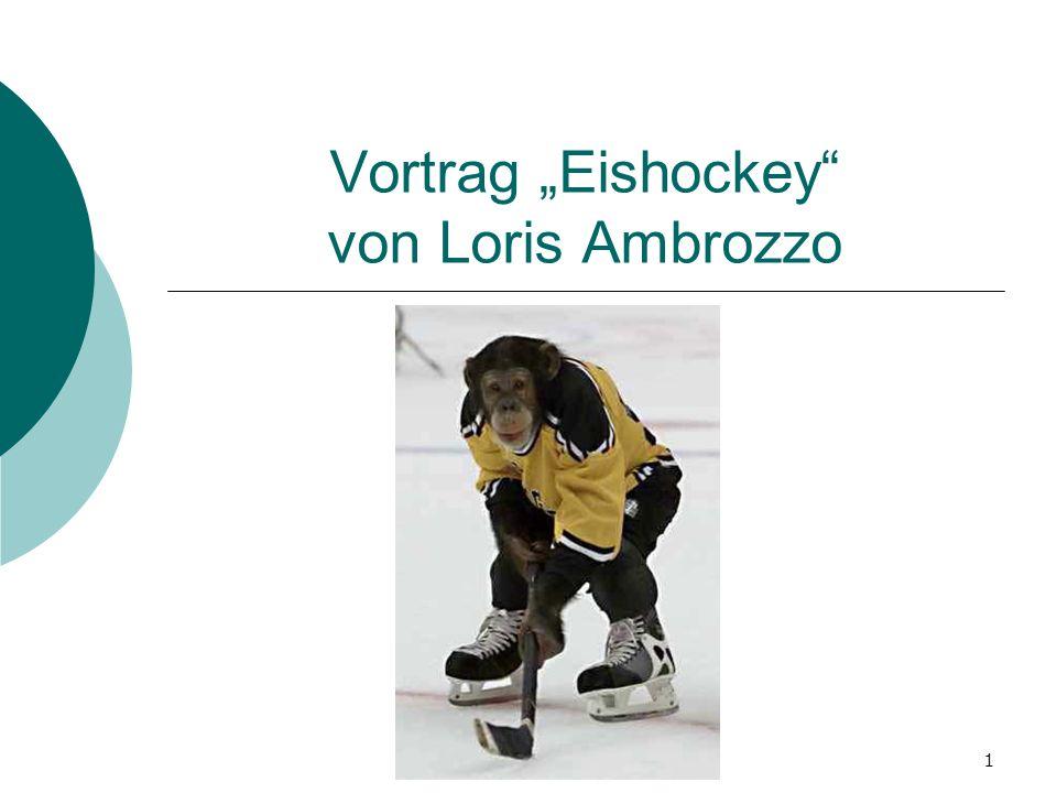 """Vortrag """"Eishockey von Loris Ambrozzo"""