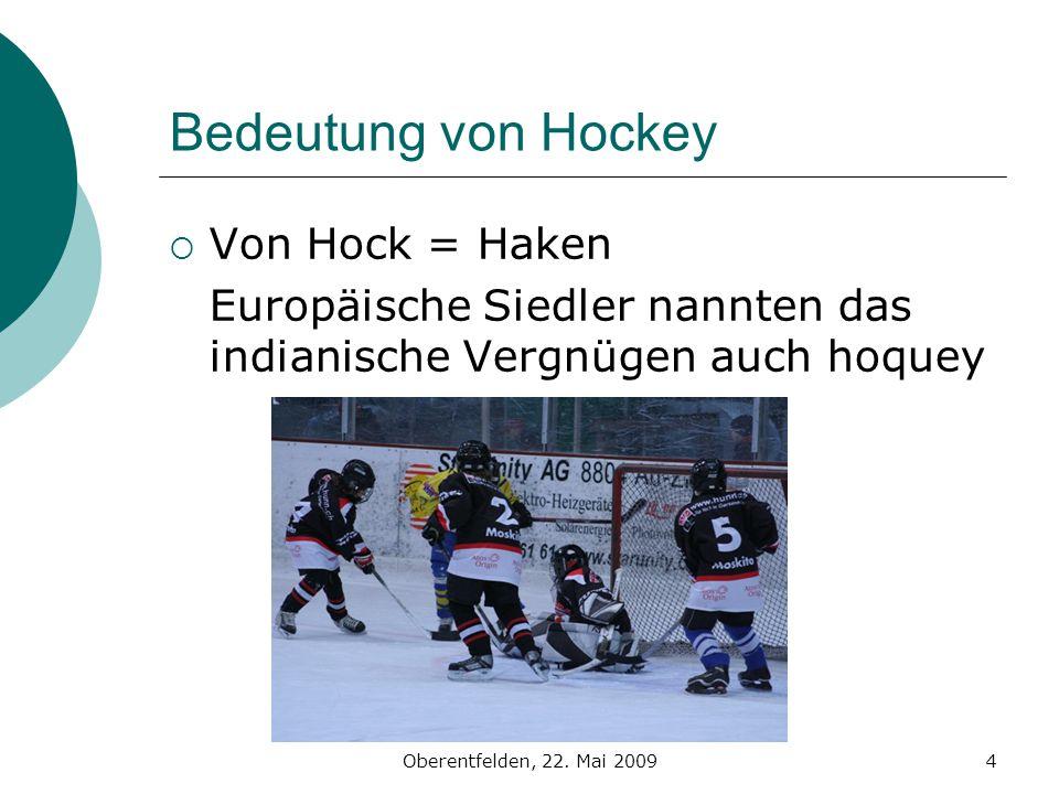Bedeutung von Hockey Von Hock = Haken