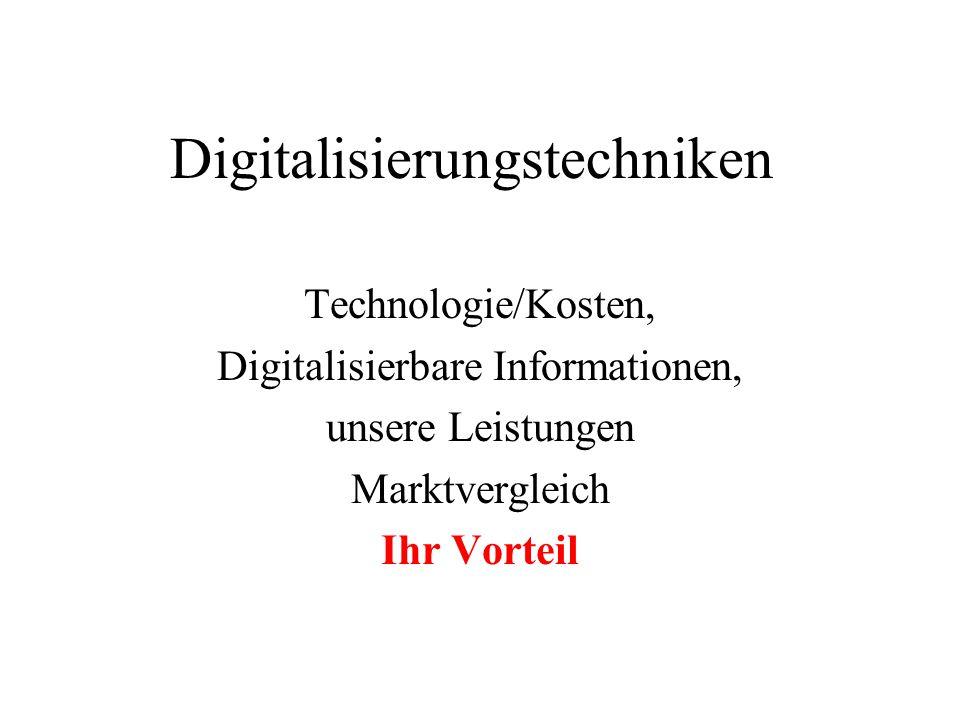Digitalisierungstechniken