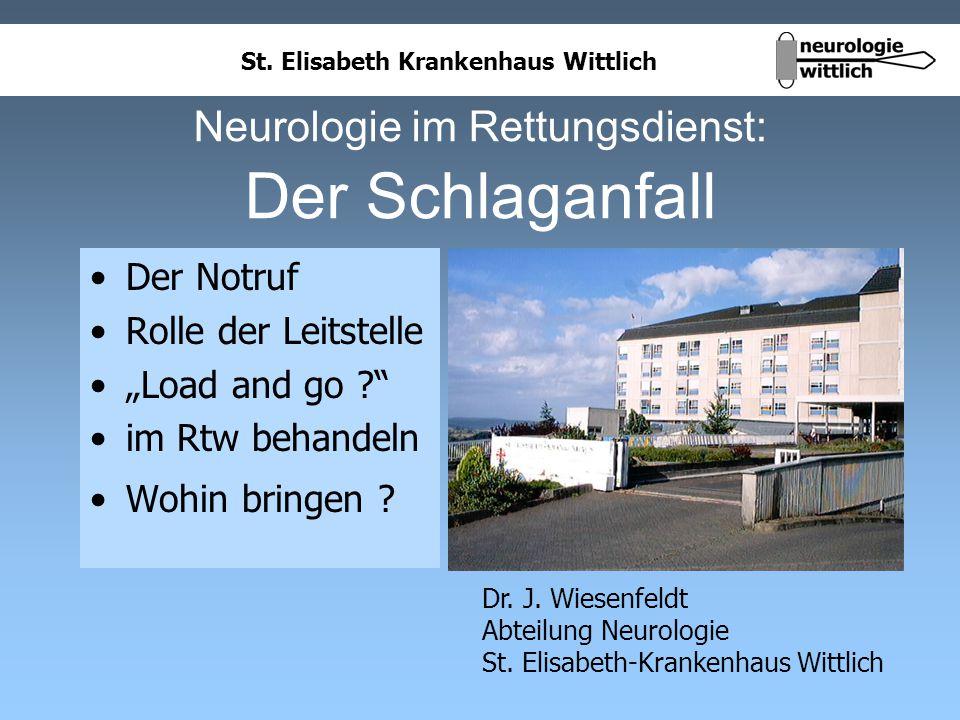 Neurologie im Rettungsdienst: Der Schlaganfall