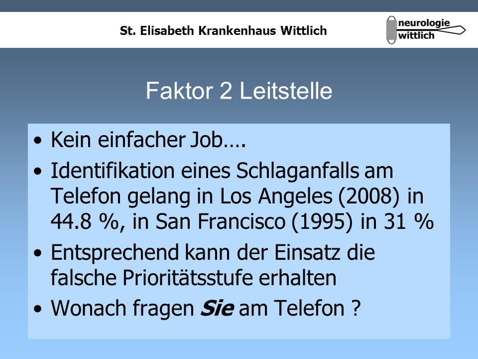 Faktor 2 Leitstelle Kein einfacher Job….