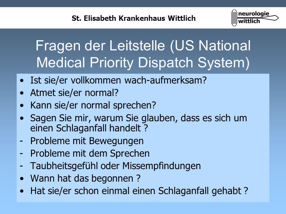 Fragen der Leitstelle (US National Medical Priority Dispatch System)
