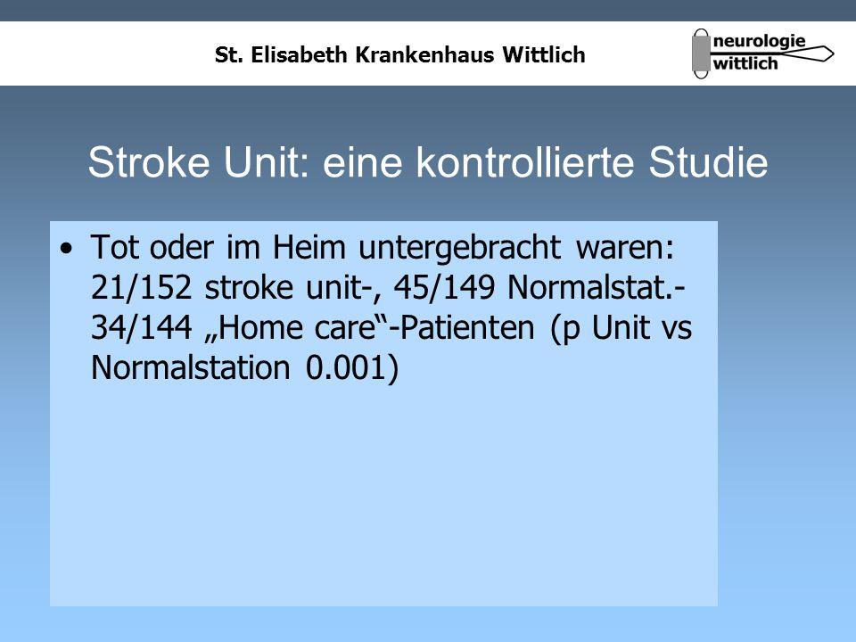 Stroke Unit: eine kontrollierte Studie
