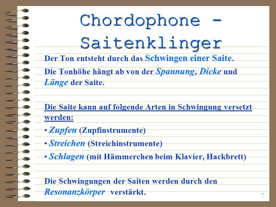 Chordophone - Saitenklinger