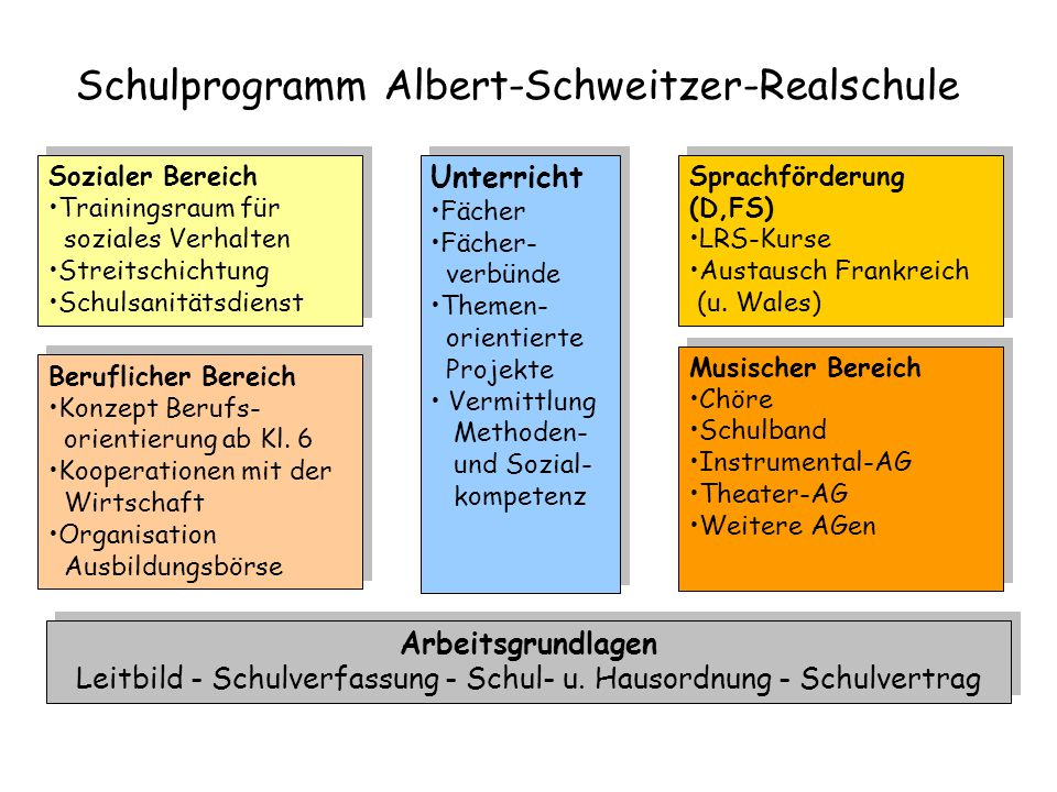 Schulprogramm Albert-Schweitzer-Realschule