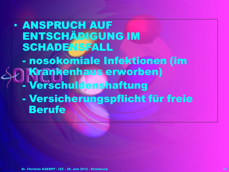 Dr. Christian KAEMPF - IZZ – 29. Juni 2012 - Strasbourg