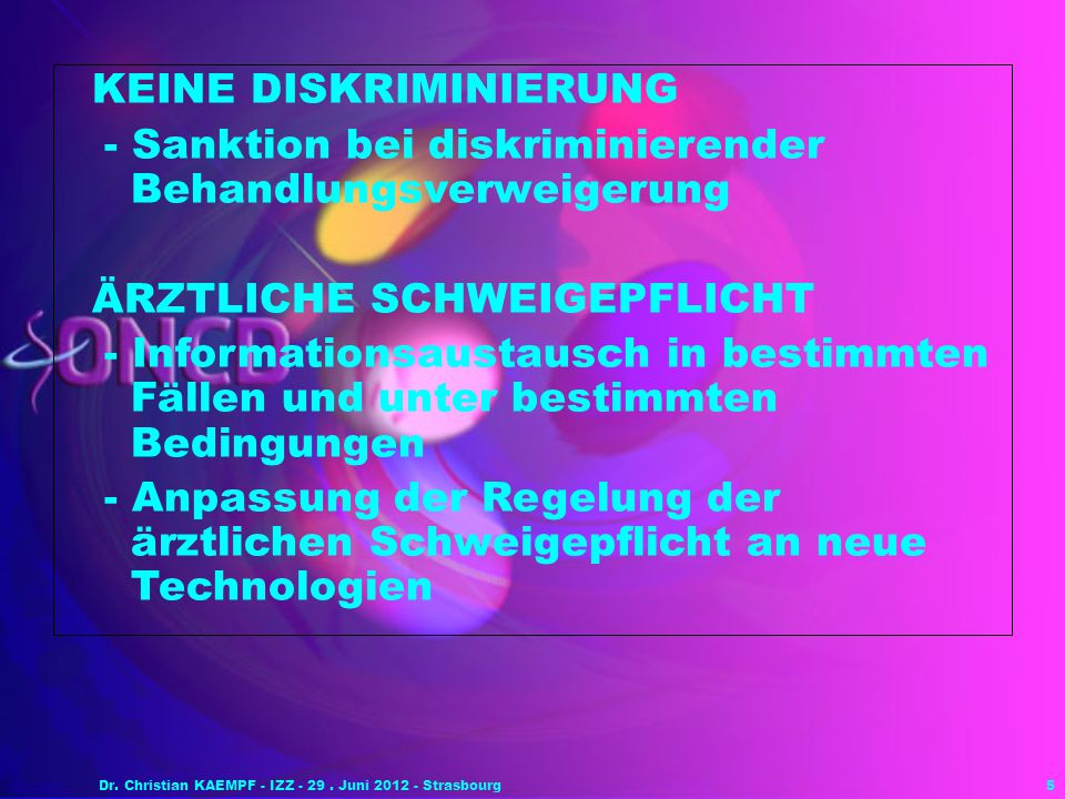 Dr. Christian KAEMPF - IZZ - 29 . Juni 2012 - Strasbourg
