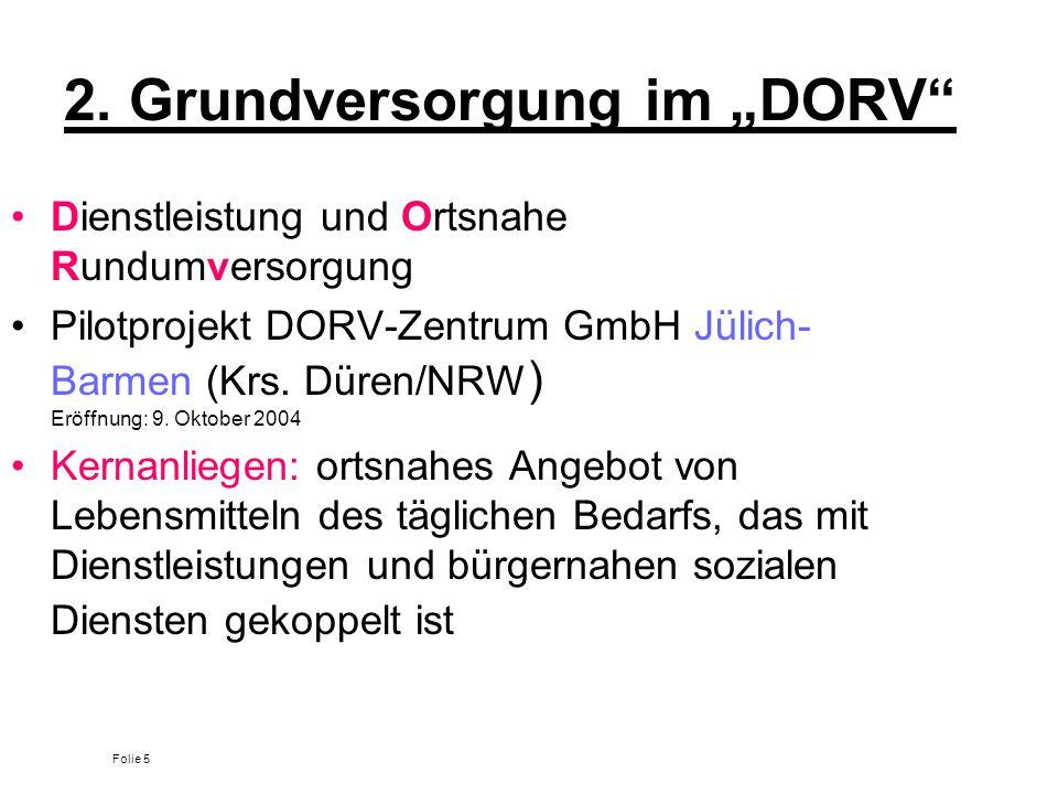 """2. Grundversorgung im """"DORV"""