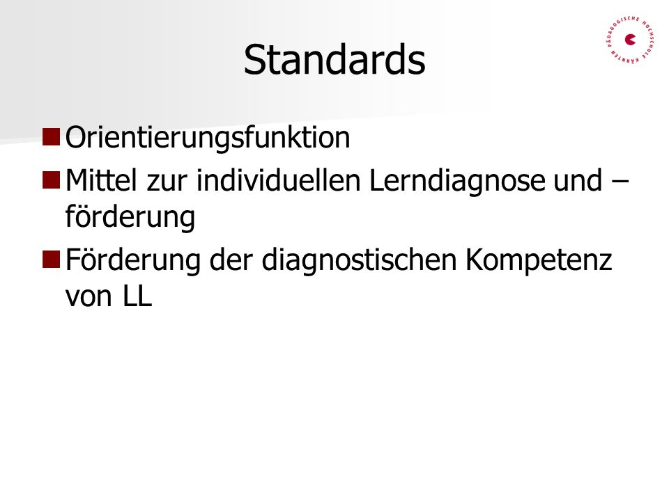 Standards Orientierungsfunktion