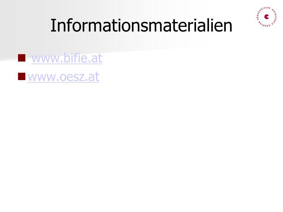 Informationsmaterialien