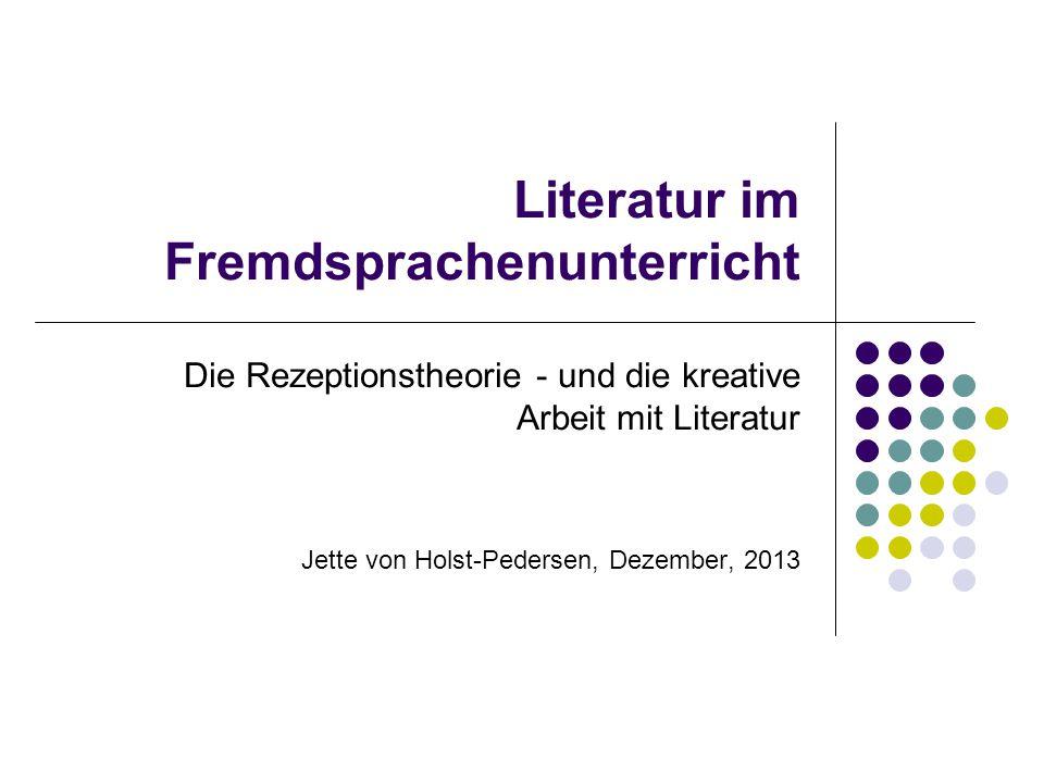 Literatur im Fremdsprachenunterricht