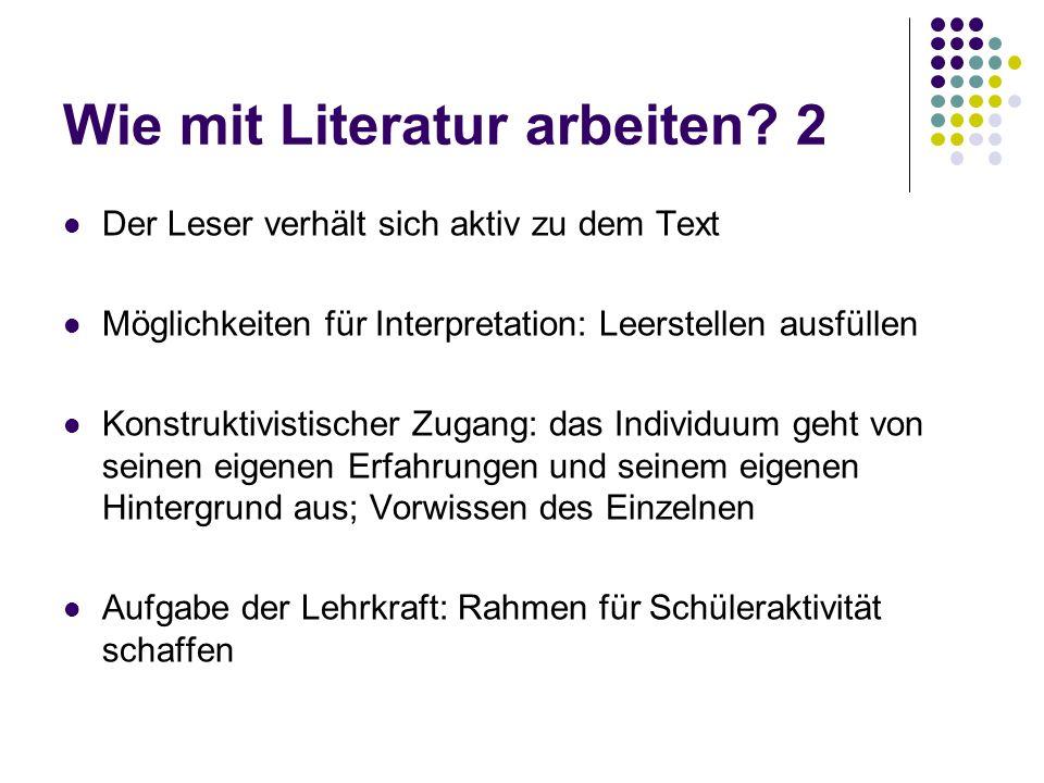 Wie mit Literatur arbeiten 2