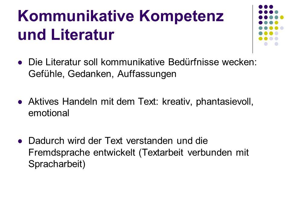 Kommunikative Kompetenz und Literatur