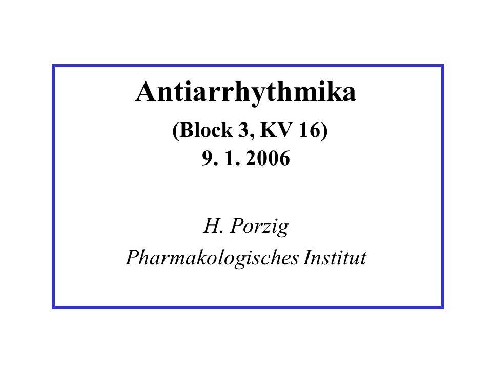 Antiarrhythmika (Block 3, KV 16) 9. 1. 2006