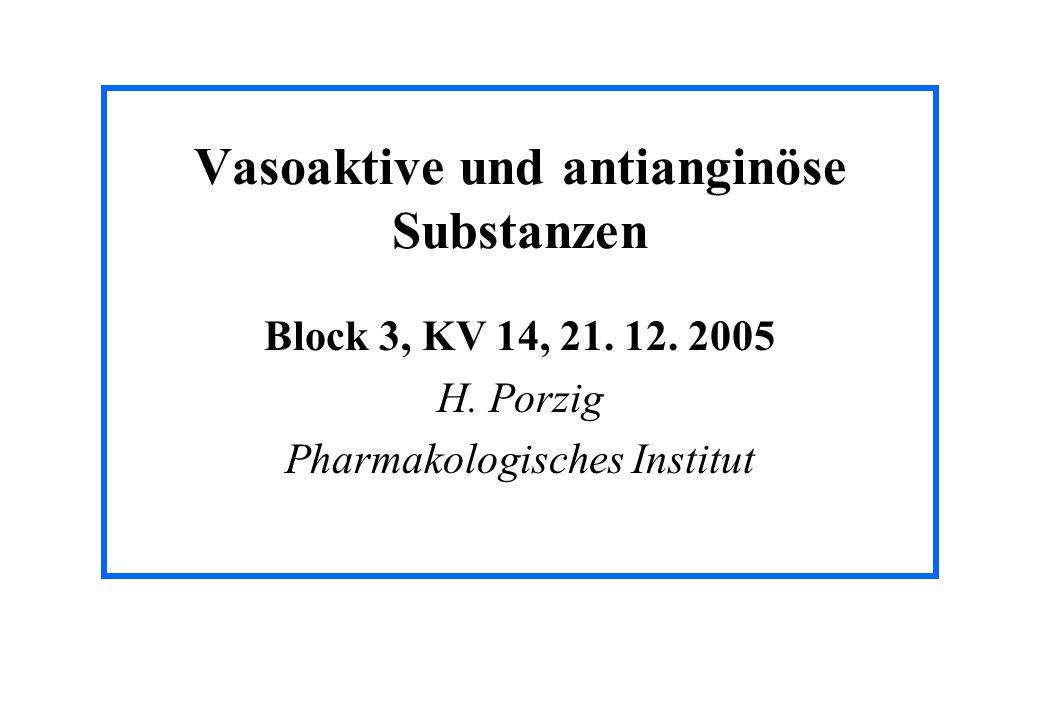 Vasoaktive und antianginöse Substanzen
