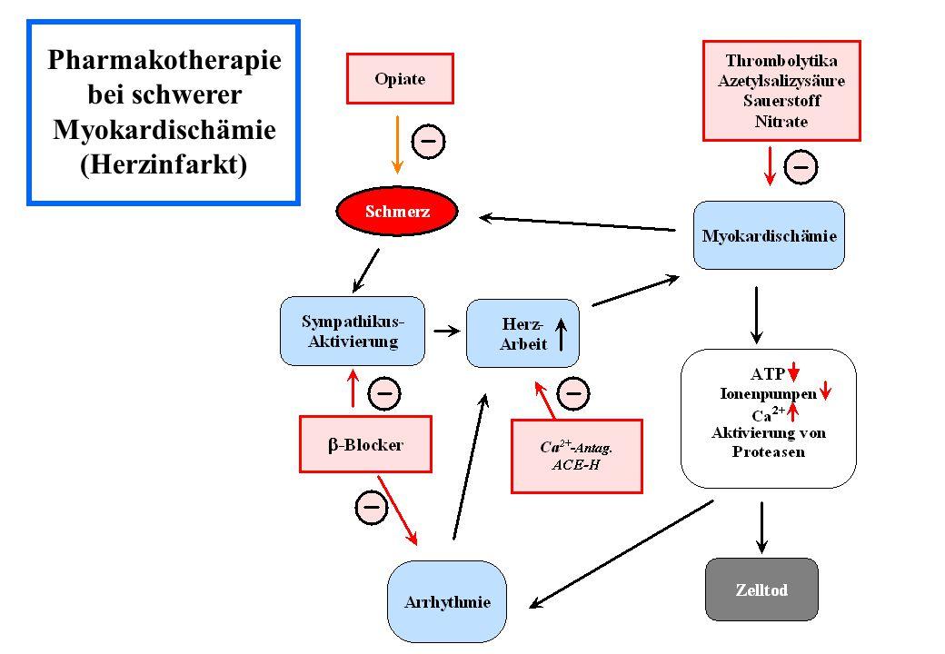 Pharmakotherapie bei schwerer Myokardischämie