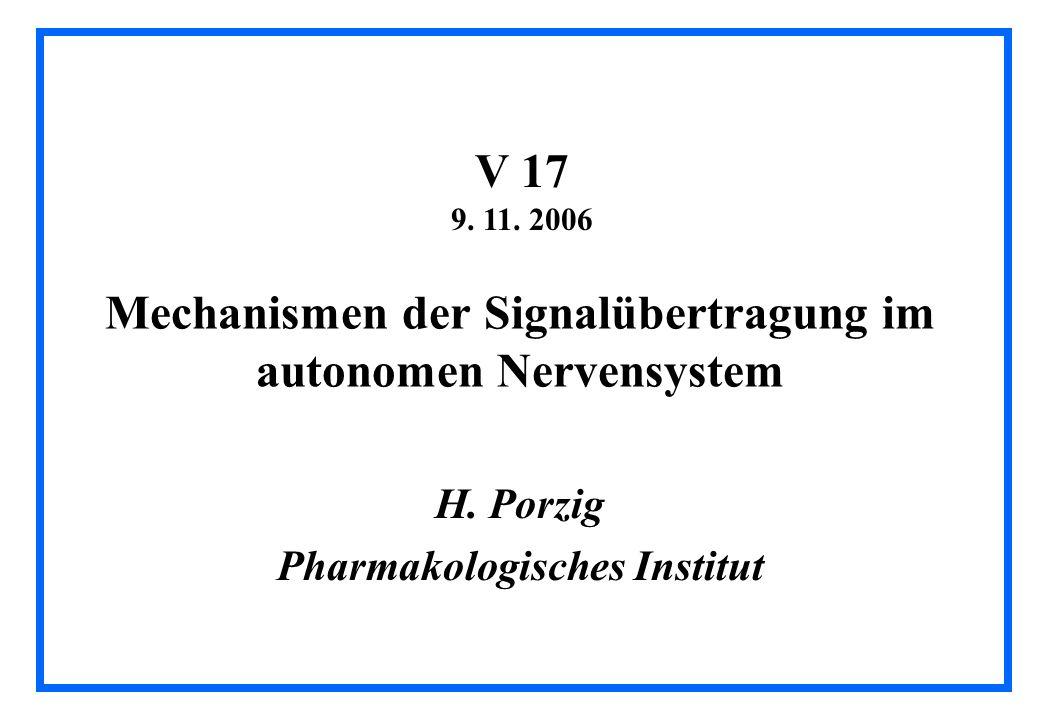 Mechanismen der Signalübertragung im autonomen Nervensystem