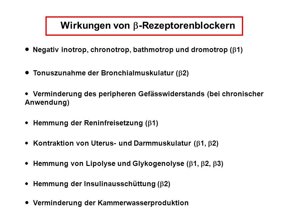 Wirkungen von b-Rezeptorenblockern