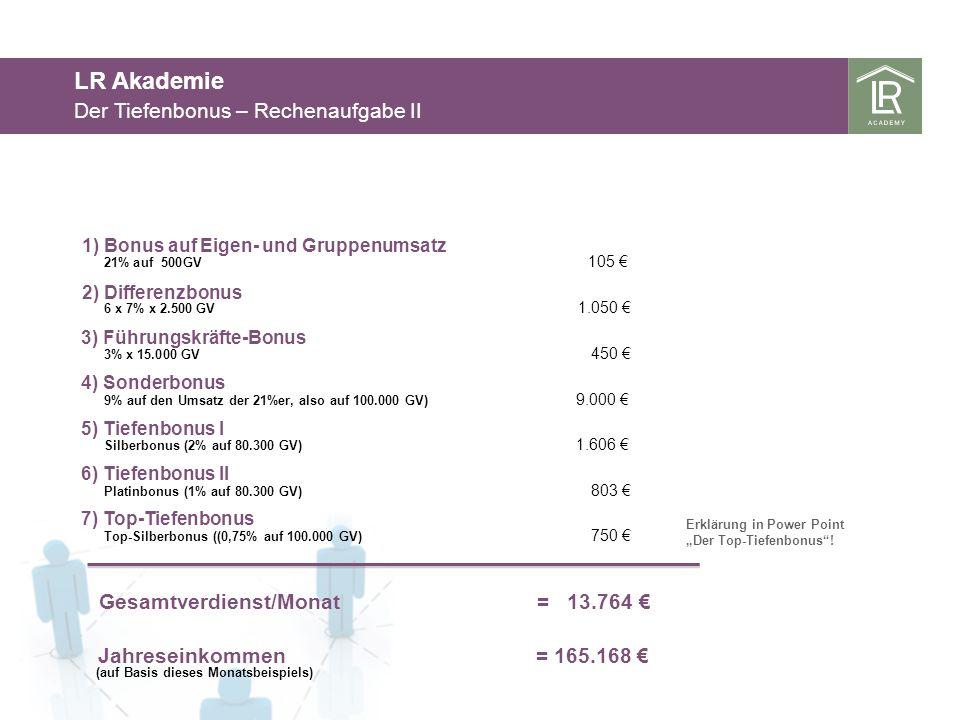 LR Akademie Der Tiefenbonus – Rechenaufgabe II