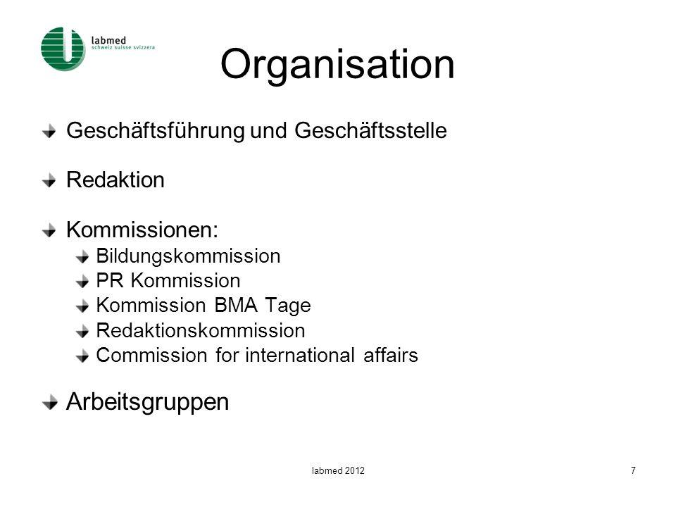 Organisation Arbeitsgruppen Geschäftsführung und Geschäftsstelle