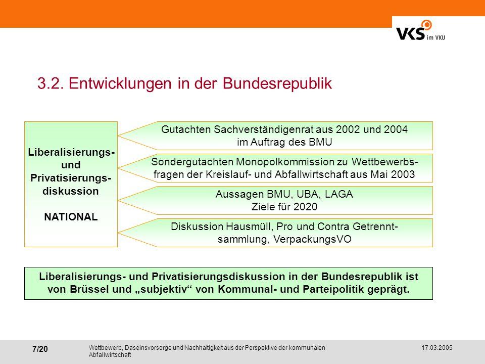 3.2. Entwicklungen in der Bundesrepublik