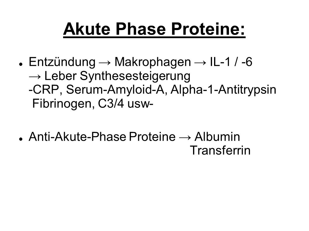 Akute Phase Proteine: